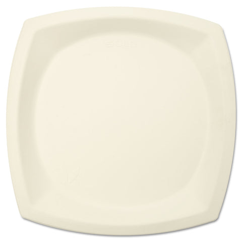 "Bare Eco-Forward Sugarcane Dinnerware, 10"" dia, Plate, Ivory, 125/Pk"