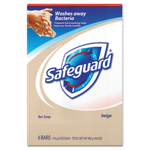 Safeguard Deodorant Bar Soap, Light Scent, 4 oz, 48/Carton - Beige