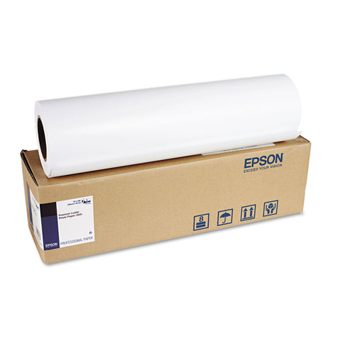 "Epson Premium Luster Photo Paper, 3"" Core, 10 mil, 20"" x 100 ft, Premium Luster White"