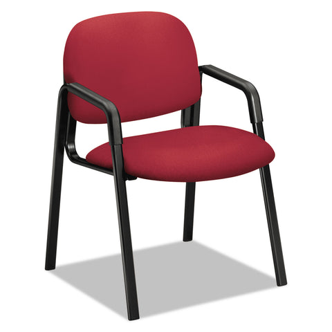 "HON Solutions Seating 4000 Series Leg Base Guest Chair, 23.5"" x 24.5"" x 32"", Marsala Seat, Marsala Back, Black Base"