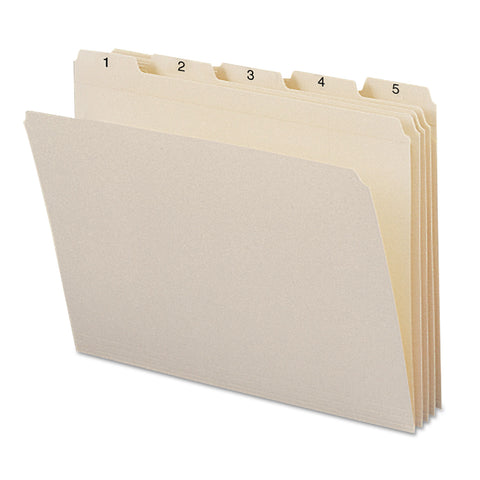 Smead Indexed File Folder Sets, 1/5-Cut Tabs, 1-31, Letter Size, Manila, 31/Set - Manila / Letter