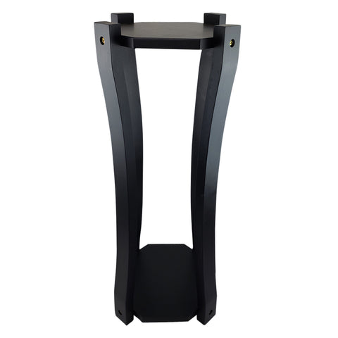 Curved Hard Wood Painted Water Crock Dispenser Floor Stand - Black - 28 Inches / Black / Wood