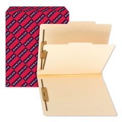 Smead Manila Four- and Six-Section Top Tab Classification Folders, 1 Divider, Letter Size, Manila, 10/Box - Manila / Letter
