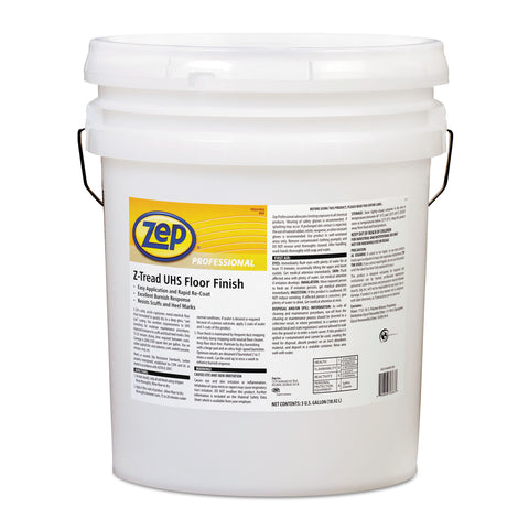 Zep Professional Z-Tread UHS Floor Finish, 5 gal Pail