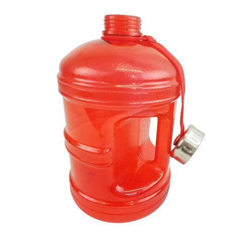 Water Bottle with Stainless Steel Cap - Red