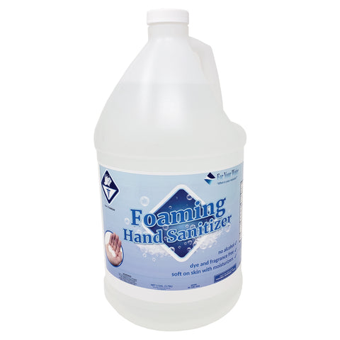 Foaming Sanitizer - No Alcohol - Dye and Fragrance Free - Soft on Skin with Moisturizers