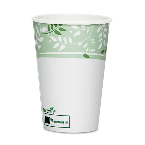 Dixie EcoSmart Hot Cups, Paper w/PLA Lining, Viridian, 16oz, 50/Pack