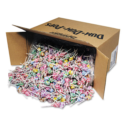 Spangler Dum-Dum-Pops, Assorted Flavors, Individually Wrapped, Bulk 30 lb Carton