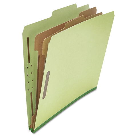 Universal Four-, Six- and Eight-Section Classification Folders, 2 Dividers, Letter Size, Green, 10/Box - Green / Letter
