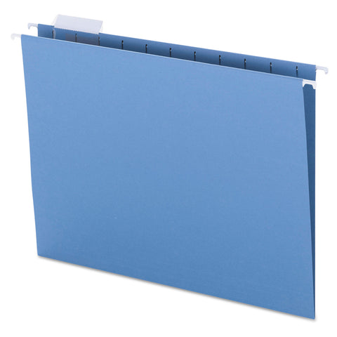 Smead Colored Hanging File Folders, Letter Size, 1/5-Cut Tab, Blue, 25/Box - Blue / Letter