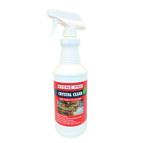 Stone Pro Crystal Clean - Daily Stone And Tile Cleaner - Ready To Use (RTU)  - 32 Oz. Spray