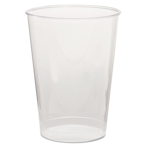 Comet Plastic Tumbler, 7 oz., Clear, Tall, 25/Pack