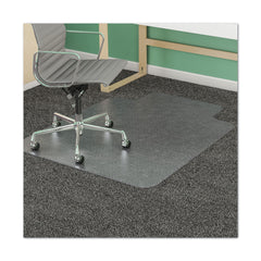 "deflecto SuperMat Frequent Use Chair Mat for Medium Pile Carpet, 45 x 53, Wide Lipped, Clear - Clear / 25"" x 12"""