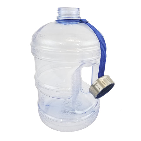 1 Gallon BPA Free Water Bottle w/ Stainless Steel Cap - Natural Blue
