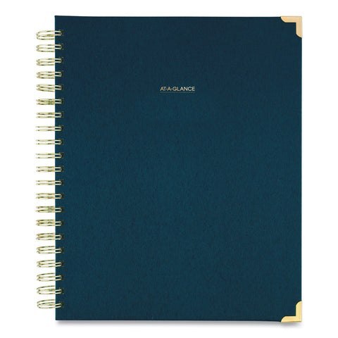 AT-A-GLANCE Harmony Weekly/Monthly Hardcover Planner, 11 x 8.5, Navy Blue, 2021