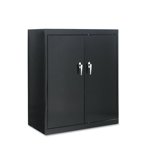 "Alera Assembled 42"" High Storage Cabinet, w/Adjustable Shelves, 36w x 18d, Black"