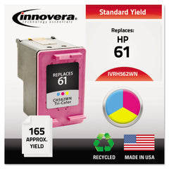 Innovera Remanufactured Tri-Color Ink, Replacement for HP 61 (CH562WN), 165 Page-Yield