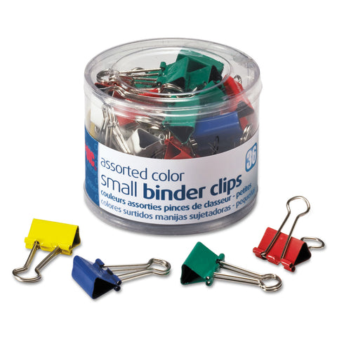 Officemate Assorted Colors Binder Clips, Small, 36/Pack