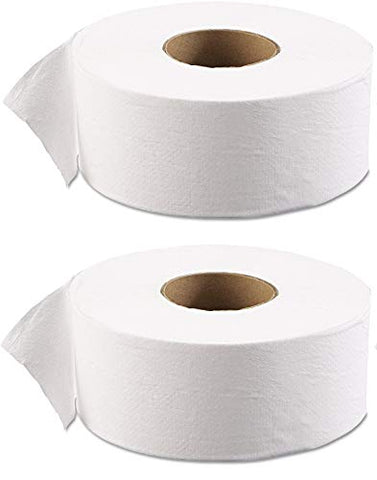 "Boardwalk 6101 JRT Jr. Bath Tissue, Jumbo, 1-Ply, 3 1/2"" x 2000ft, 9"" dia, White (Case of 12) ((Set) of 2)"