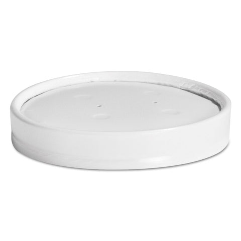 Chinet Vented Paper Lids, 8-16oz Cups, White, 25/Sleeve, 40 Sleeves/Carton