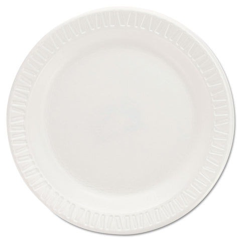 Dart Quiet Classic Laminated Foam Dinnerware Plates, 6 Inches, White, Round, 125/Pack