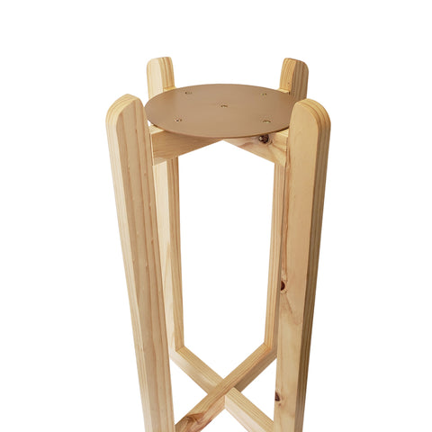 "For Your Water 27"" Natural Wood Painted Water Crock Dispenser Floor Stand - Natural - Natural / 27 Inches / Wood"