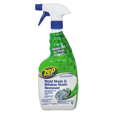 Zep Commercial Mold Stain and Mildew Stain Remover, 32 oz Spray Bottle
