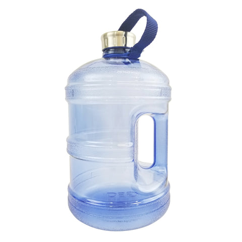 BPA Free Water Bottle w/ Stainless Steel Cap - Dark Blue