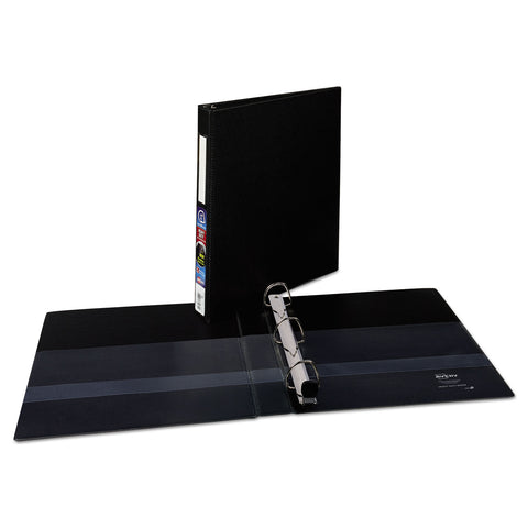 "Avery Heavy-Duty Non-View Binder with DuraHinge and Locking One Touch EZD Rings, 3 Rings, 1"" Capacity, 11 x 8.5, Black"
