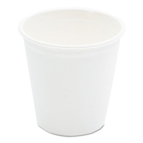 Compostable Sugarcane Bagasse Hot Cups, 12oz, White, 1000/Carton