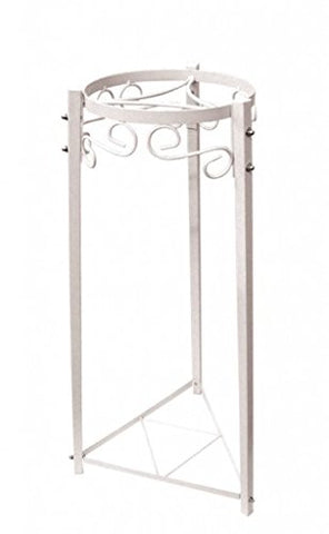 "For Your Water 32"" Metal Water Crock Dispenser Floor Stand - White"