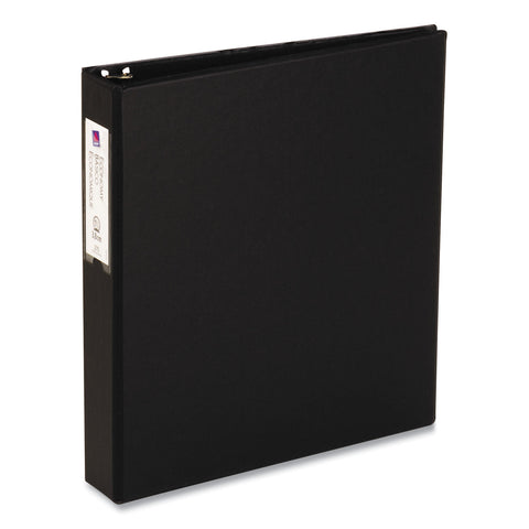 "Avery Economy Non-View Binder with Round Rings, 3 Rings, 1.5"" Capacity, 11 x 8.5, Black"
