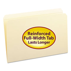 Smead Reinforced Tab Manila File Folders, Straight Tab, Legal Size, 11 pt. Manila, 100/Box - Manila / Legal