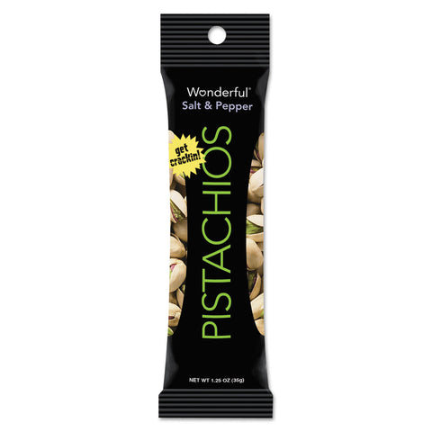 Paramount Farms Wonderful Pistachios, Dry Roasted and Salted, 5 oz, 8/Box