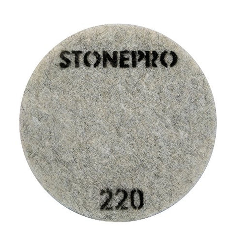 "Stone Pro 17"" Flexible Resin DOT Pads 220 Grit - For Superior Polish On Stone, Concrete and Terrazzo"