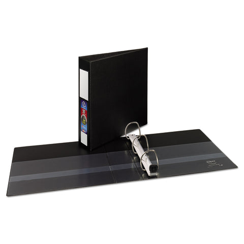 "Avery Heavy-Duty Non-View Binder with DuraHinge and Locking One Touch EZD Rings, 3 Rings, 2"" Capacity, 11 x 8.5, Black"