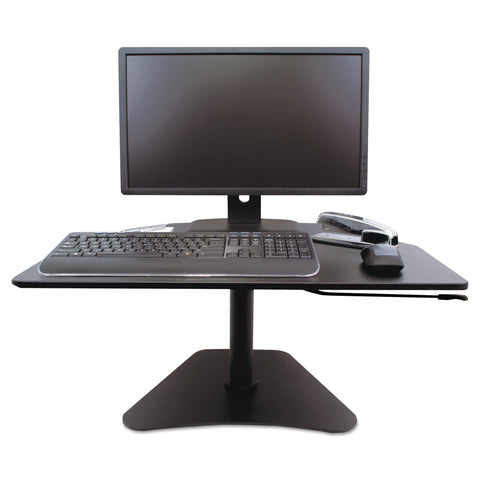 Victor High Rise Adjustable Stand-Up Desk, 28w x 23d x 16.75h, Black - Black