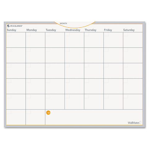 AT-A-GLANCE WallMates Self-Adhesive Dry Erase Monthly Planning Surface, 24 x 18