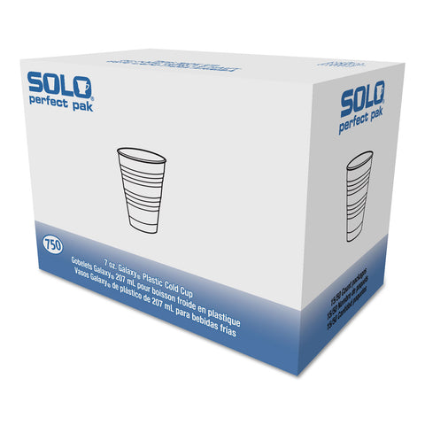 Dart Conex Galaxy Polystyrene Plastic Cold Cups, 7 oz, Clear, 100/Pack