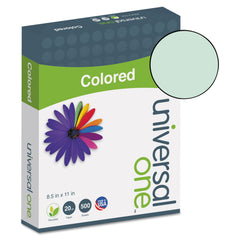 Universal Deluxe Colored Paper, 20lb, 8 1/2 x 11, Green, 500/RM