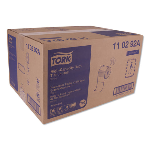 Tork Advanced High Capacity Bath Tissue, Septic Safe, 2-Ply, White, 1000 Sheets/Roll, 36/Carton - White / 1.7""