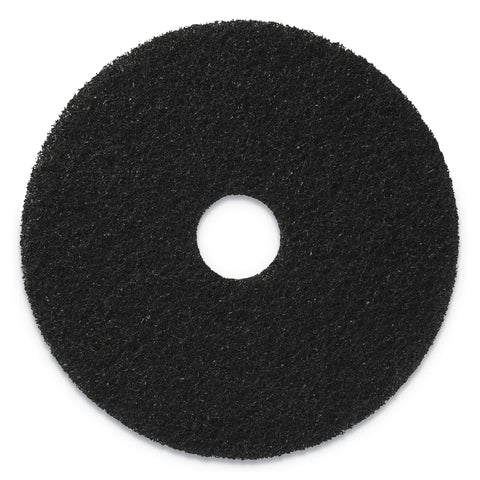 "Americo Stripping Pads, 20"" Diameter, Black, 5/CT - Black"