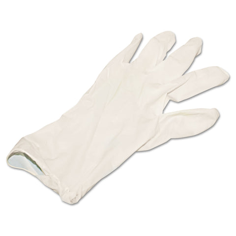 Boardwalk Powder-Free Synthetic Vinyl Gloves, Large, Beige, 4 mil, 100/Box - Beige / Large