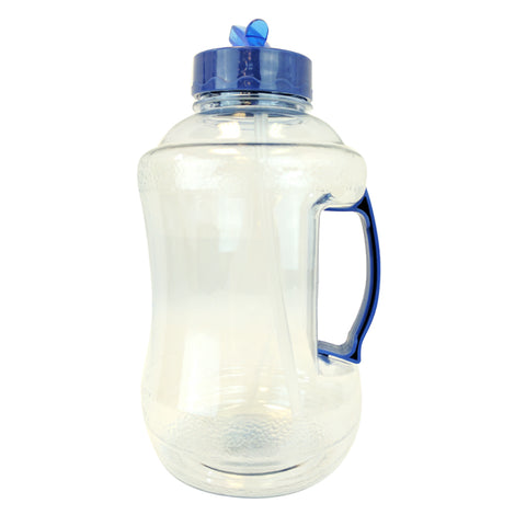 Water Bottle with Drinking Straw - Light Blue