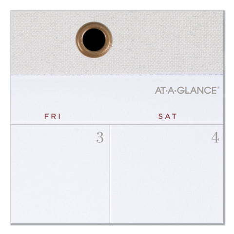 AT-A-GLANCE Signature Collection Desk Pad, 22 x 17, White, 2020