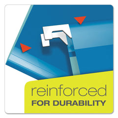 Pendaflex Colored Reinforced Hanging Folders, Letter Size, 1/5-Cut Tab, Blue, 25/Box - Blue / Letter