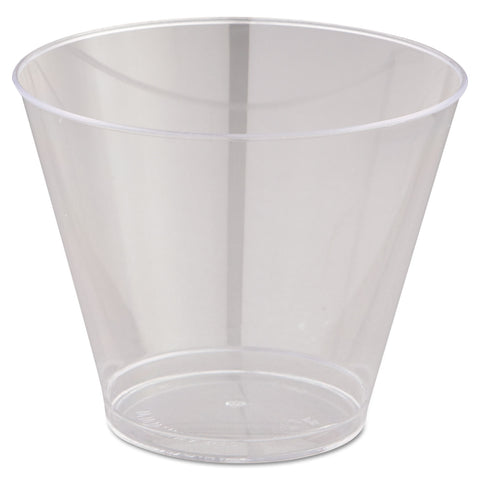 WNA Comet Smooth Wall Tumblers, 9oz, Clear, Squat, 25/Pack, 20 Packs/Carton