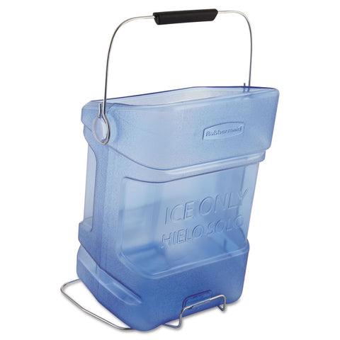 Rubbermaid Commercial Ice Tote, 5.5gal, Blue, With Hook Assembly