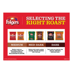Folgers Ground Coffee, Classic Roast Decaffeinated, Ground, 22 3/5oz, Can, 6/Carton