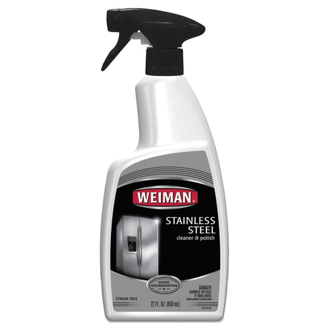 WEIMAN Stainless Steel Cleaner and Polish, Floral Scent, 22 oz Trigger Spray Bottle